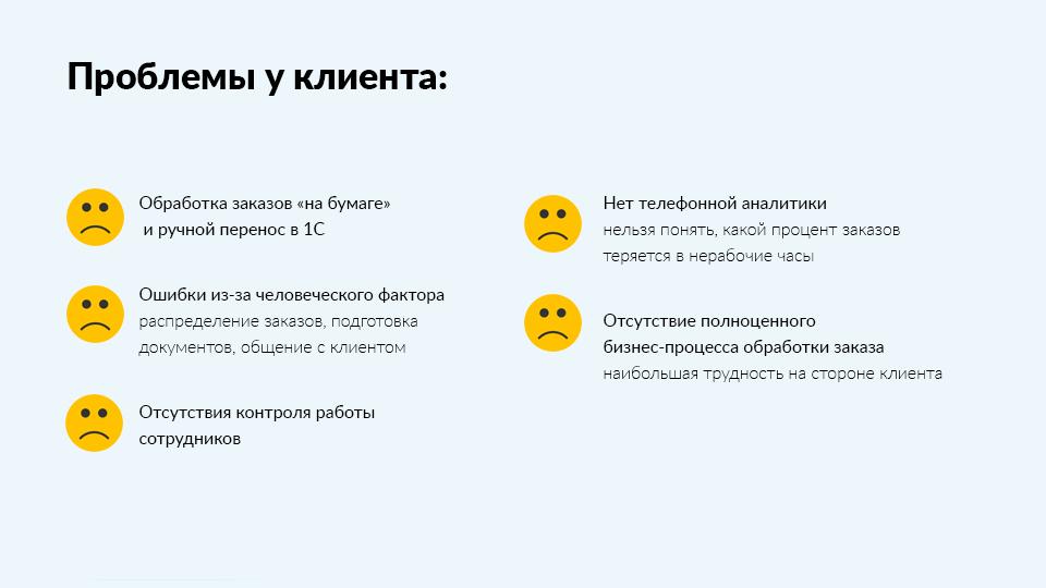 Проблемы клиентов