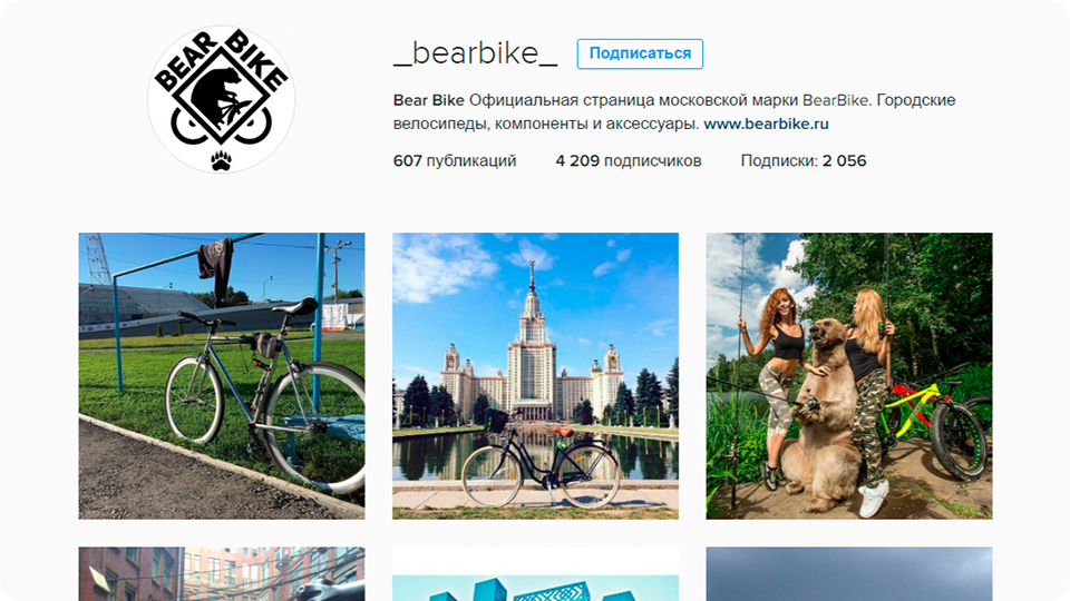 Instagram Bear Bike